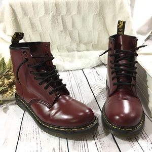 Dr Martens 1460 smooth cherry red combat boots